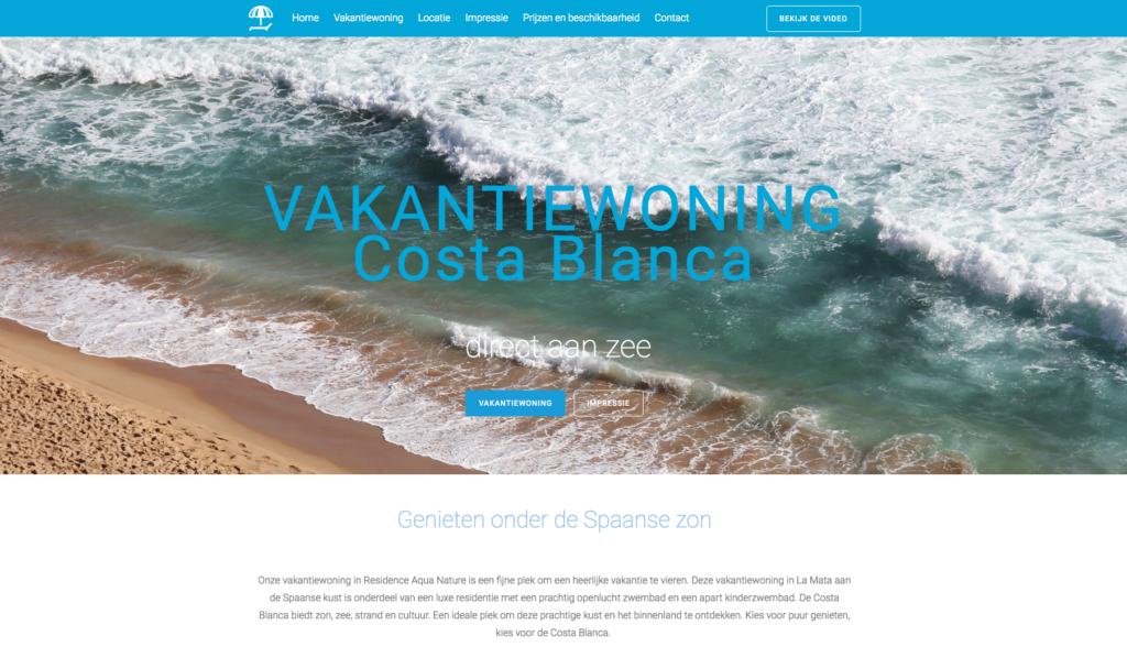 WebMagix portfolio www.vakantielamata.nl