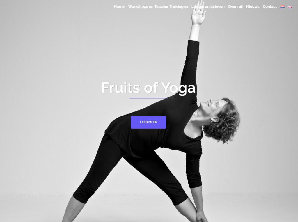 WebMagix portfolio Fruits of Yoga