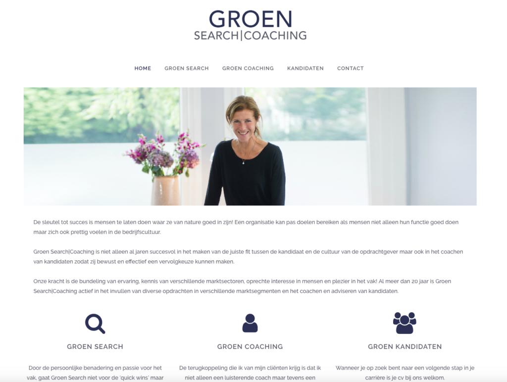 WebMagix portfolio Groen Search|Coaching