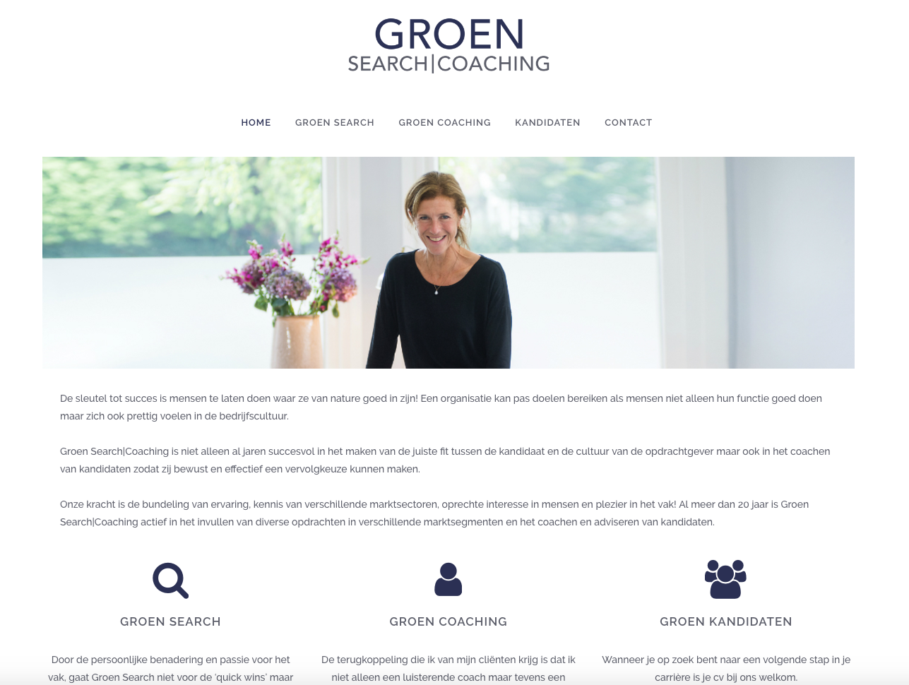 WebMagix portfolio Groen Search|Coaching