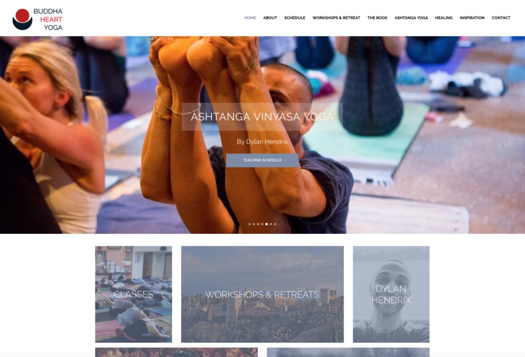 WebMagix portfolio Buddha Heart Yoga